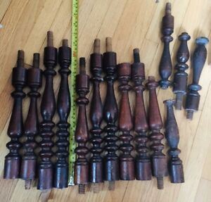 Antique wood Support Spindle French architectural Furniture Walnut Whatnot Parts