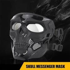 Black Tactical Mask Full Face Protective Breathable Skeleton Masks AU