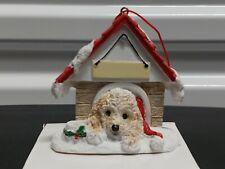 Cockapoo Christmas Tree Ornament Doghouse Holiday Decor Dog Lover