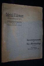 1929 Eckrich & Schwarz MANNHEIM Baubeschläge ZIEHL Eisenwaren Prospekt katalog
