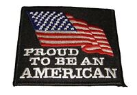 PROUD TO BE AN AMERICAN WITH USA FLAG PATCH PATRIOTIC PRIDE HONOR