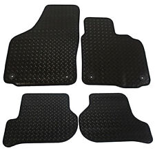 For Volkswagen VW Scirocco 2008-2017 Tailored 4 Piece Rubber Car Mat Set 4 Clips