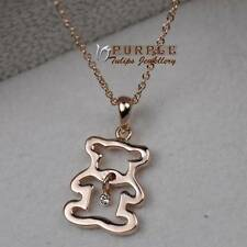 18CT Rose Gold Plated Delicate Teddy Bear Necklace Made With SWAROVSKI Crystal