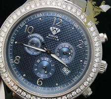2.45ct Aqua Master Mend si1 Diamond Watch Blue Dial