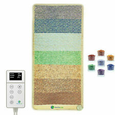 """Heating Pad Reiki Chakra Mat Crystal PEMF Infrared Therapy HealthyLine 50"""" x 24"""""""