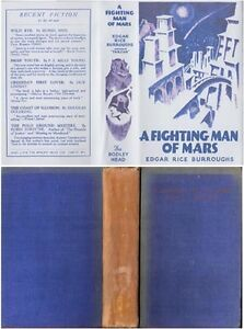 Edgar Rice Burroughs  A FIGHTING MAN OF MARS  2nd w/fdj 1933 Bodley Head