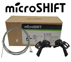 microSHIFT SL-T09-BK 3x9 Thumb Shifter Set fits Shimano mountain touring hybrid