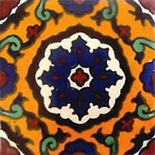 90 MEXICAN CERAMIC TILES WALL OR FLOOR USE CLAY TALAVERA MEXICO POTTERY #C085