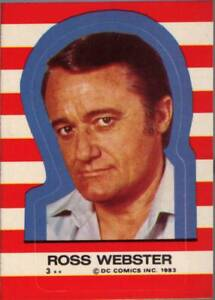 1983 Topps Superman III Stickers # 3 Ross Webster