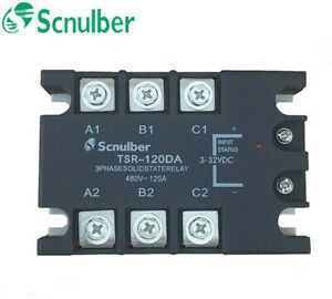 Scnulber three-phase solid state relay TSR-120DA 480VAC 120A DC control AC