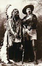 Sitting Bull & Buffalo Bill, Sioux Indian Leader and Wild West Show --- Postcard