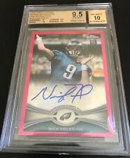 NICK FOLES RC AUTO 2012 TOPPS CHROME PINK REFRACTOR #'d /75 BGS 9.5/10