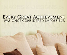Wall Decal Sticker Quote Vinyl Art Large Mural Letter Nothing is Impossible J69