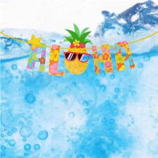 2.5M Hawaiian Tropical Pineapple Summer ALOHA Party Banner Garland Bunting Decor
