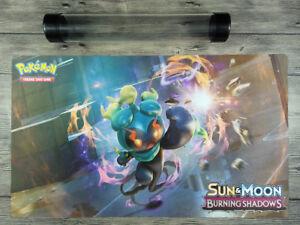 PM Sun & Moon—Marshadow PTCG Custom Playmat TCG Mat Free High Quality Tube