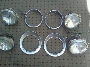 Jaguar 1960's  Mk10 mark10 markX 420 Headlight bezel set
