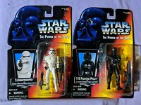 Star Wars The Power Of The Force Lot (Stormtrooper & TIE Fighter Pilot) Kenner