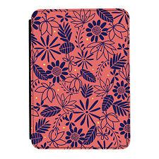 Verano Flores patrón floral Kindle Paperwhite Touch Cuero Pu Flip Funda Protectora
