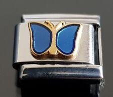 Blue Butterfly Italian Charm  Bracelet Charms Link Charm