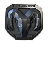 2019-20 Dodge Ram 1500-3500 MATTE BLACK RAMs Head Logo Tailgate EMBLEM NEW OEM