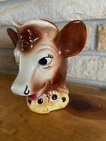 Vintage Ceramic Borden's Elsie the Cow Head Creamer Pitcher