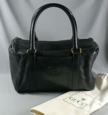 Vintage Gucci Handbag & Dust Cover - Textured Black Speedy Satchel Doctor Bag
