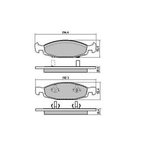 Budget Front Brake Disc Pads DB1715 (DB1715) suits GRAND CHEROKEE WJ 7/99 - 10/0