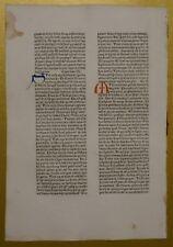 Original Blatt aus der KOBERGER BIBEL 1475, Nürnberg, rubriziert Inkunabel 8