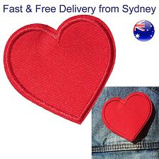 Love heart Iron on patch - Lovers affection loving red patches embroidery