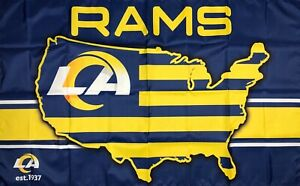 Los Angeles Rams NFL Flag 3x5 ft Sports Football Banner Man-Cave Garage