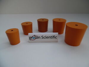 Rubber Bungs Stoppers Laboratory One Hole Stoppers Various Sizes *Multi Listing*