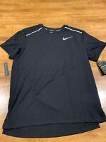 Nike Men's Breathe Dry Running SS Shirt Medium Black AQ9919 010 New With Tags