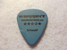 Guitar Pick Jerry - Warrant tour issue guitar pick No lot