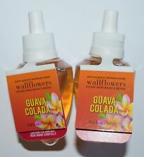 LOT OF 2 BATH & BODY WORKS GUAVA COLADA WALLFLOWER FRAGRANCE REFILL BULB PLUG