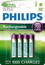 4 batterie ministilo AAA ricaricabili NiMH 700 mAh  PHILIPS x cordless, mouse