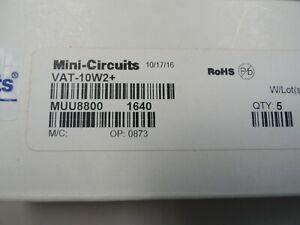 Lot of 5 Mini-Circuits VAT-10W2+ 10 dB Fixed Attenuator, DC - 6000 MHz, 50Ω NEW!