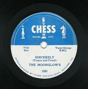 MOONGLOWS Sincerely/Tempting 10IN 1954 DOO WOP VG++ LISTEN!!!!!!