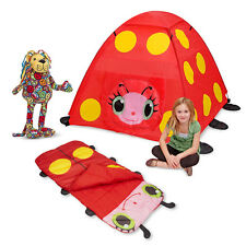 Mollie Kids Tent Sleeping Bag and Lizzy Lion Indoor or Outdoor Camping