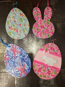 LILLY PULITZER PATTERNED Easter Eggs DOOR DECOR Bunny -New!-