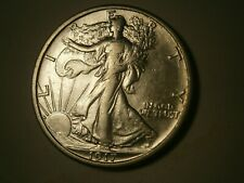1917 S REV WALKING LIBERTY HALF DOLLAR    AU