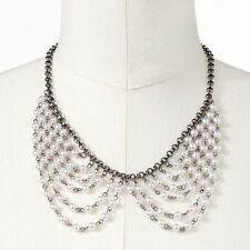 Candie's® Jet Simulated Pearl Swag Necklace