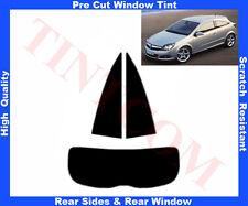Pre Cut Window Tint Opel Astra H 3D 2005-2009 Rear Window & Rear Sides Any Shade
