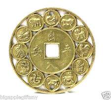 4.5mm LUCKY CHINESE ZODIAC FENG SHUI COIN for GOOD LUCK PROSPERITY PROTECTION