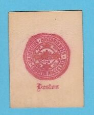 c1910s tobacco leather Boston University Colored College seal