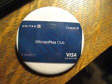 United Airlines UAL UA Mileage Plus Club Visa Card Advertisement Pocket Mirror