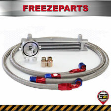 7 Row AN10 Universal Oil Cooler + M20*P1.5 Filter Relocation Adapter Hose Kit SL