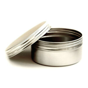 250ml Large Round Metal Candle Tins Cosmetic Pots Jar Sample Aluminum Travel JQA
