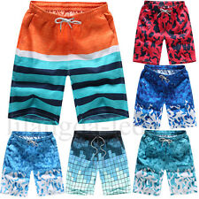 Men's Summer Swimming Shorts Casual Loose Beachwear Swimwear Short Pants M-4XL