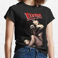 Elvira Mistress of the Dark Classic Black T-Shirt Unisex S-3XL Poster Movie