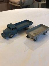 Märklin 8009 und Märklin 8012, Truck mit Anhänger, Blau, Grau